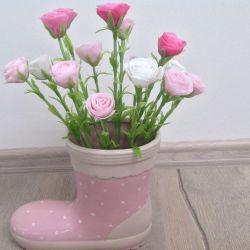 Trandafiri din argilă din argilă polimerică