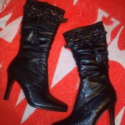 Women's boots with fur