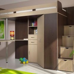 Schoolboy corner loft bed NEW