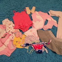 Одежда на девочку 0- 12 мес
