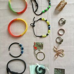 Women's Jewelry (rings, bracelets, key chains)