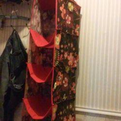Hinged shelf made of cloth