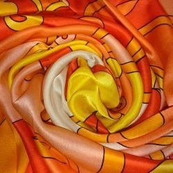 Silk scarf 85x85