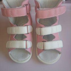 Orthopedic sandals.