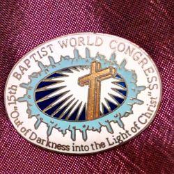 Значок с 15-го мирового конгресса баптистов