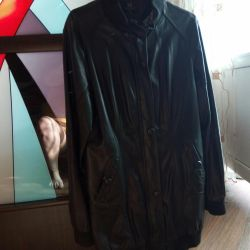 Selling a leather jacket.