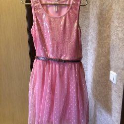 Pullu zarif elbise Adalet 10-12 yaş