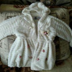 Fur for girls for spring-autumn