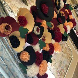 Цветы из бумаги для фотосессии