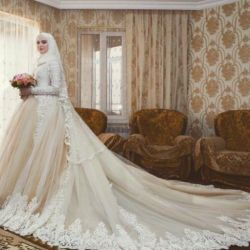 Wedding dresses for covered, under hijab, closed