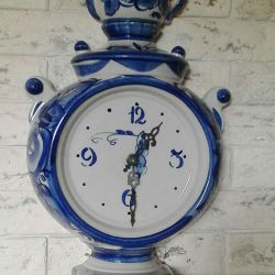 Часы гжель