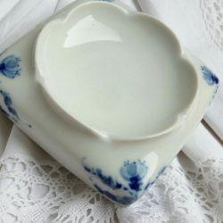 Ashtray Porcelain Cobalt