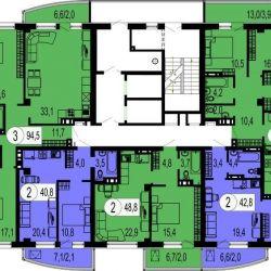 Apartment, 3 rooms, 94.8 m²