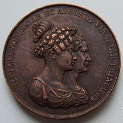 Düğün Madalyası Wilhelm 1 ve Ağustos 1829