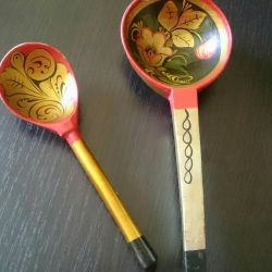 Wooden spoons of the USSR
