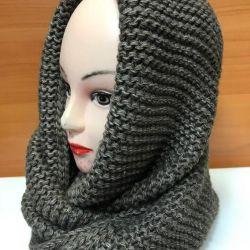 Scarf - yoke. Snud knitted