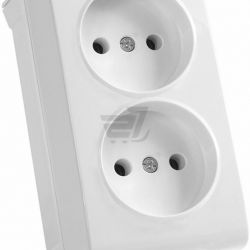 White patch sockets double and single