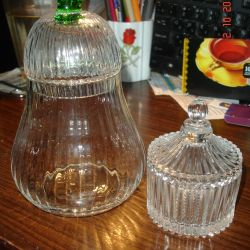Cam vazo, kapaklı kap, tabut