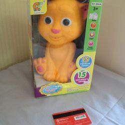 игрушка поющий кот новая