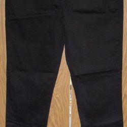 New black stretch jeans for small. height 160 cm