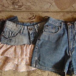 denim skirts and shorts