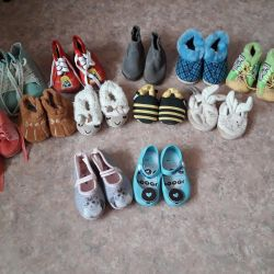 Slippers for girls from 0 to 7 months old