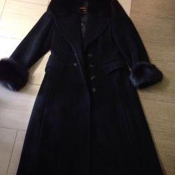 Long coat with fur Ildan