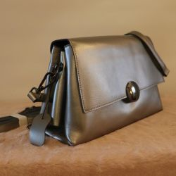 New Pearl-Colored Leather Bag