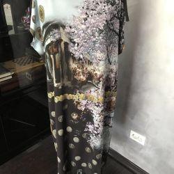 Dress 48 r, silk jersey, Italy, new