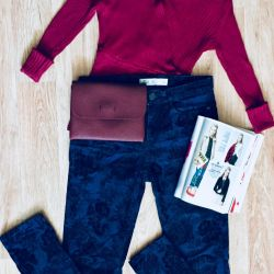 jeans / trousers, bag