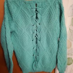 Warm knitted jacket