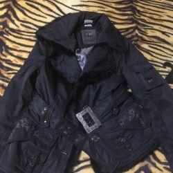 Short women's jacket under the belt