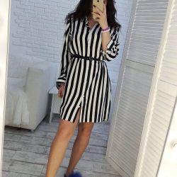 Φόρεμα με ριγέ φόρεμα