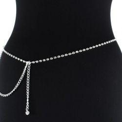 Decorative strap with rhinestones