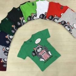 Детские футболки в наличии х/б