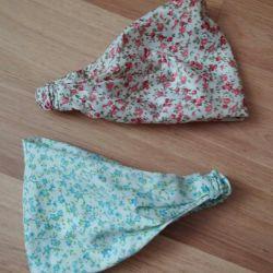 A kerchief on an elastic band for a girl