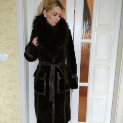Designer winter coat of Mouton