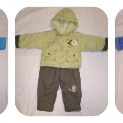 Demi suit and suit 69-70cm, 76-84 / 104cm -3pcs