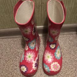 Rubber boots give a gift