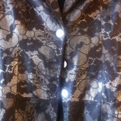 Пиджак кожаный с лазерной обработкой