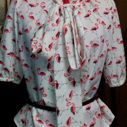 Flamingo blouse