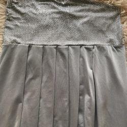 Üst / Rhinestones ile elbise