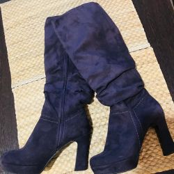 Brand boots suede