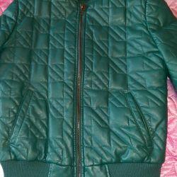 Eco-leather jacket. Size 44-46
