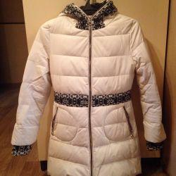 Down jacket leatherette