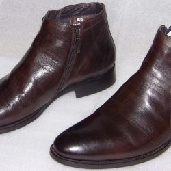 40 Brown Leather Boots by DinoRicci