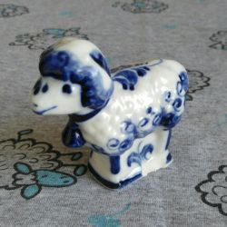 Gzhel vintage sheep