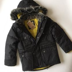 Down jacket jacket for 6, 8 years