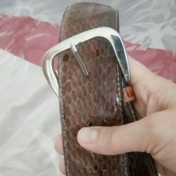 Leather snake strap natural