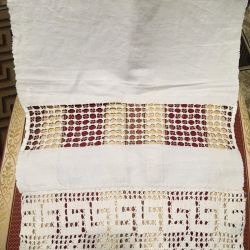 Old self-woven towel